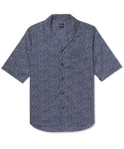 Albam | Camp-Collar Printed Cotton-Voile Shirt