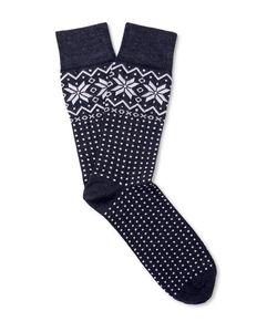 Corgi | Fair Isle Wool-Blend Socks