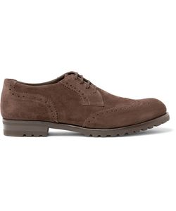 Harrys Of London | Gage Suede Wingtip Brogues