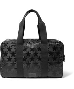 Valentino | Leather-Trimmed Star And Camouflage-Patterned Canvas Holdall
