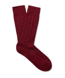 Marcoliani | Ribbed Cashmere-Blend Socks