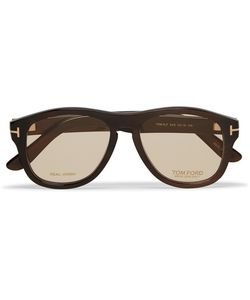 Tom Ford | Private Collection Aviator-Style Horn Optical Glasses