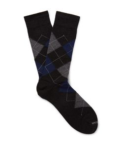 Marcoliani | Argyle Merino Wool-Blend Socks