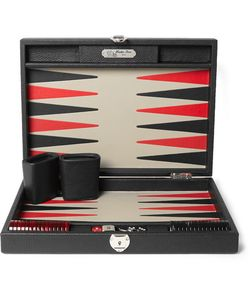 Hector Saxe | Daniel Grained-Leather Backgammon Set