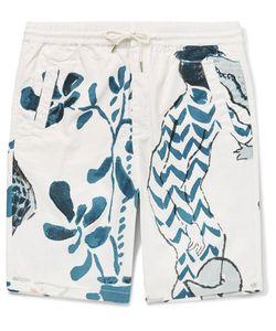 Folk | Goss Brothers Alligator Printed Cotton-Twill Shorts