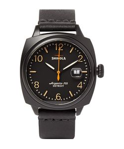 SHINOLA | The Brakeman 40mm Stainless Steel And Leather Watch