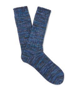 Anonymous Ism | Mélange Cotton-Blend Socks
