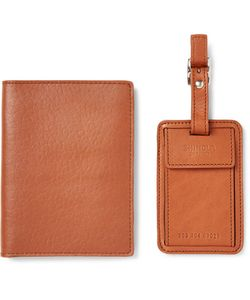 SHINOLA | Leather Passport Cover And Luggage Tag