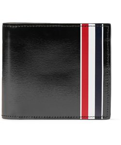 Thom Browne   Striped Patent-Leather Billfold Wallet