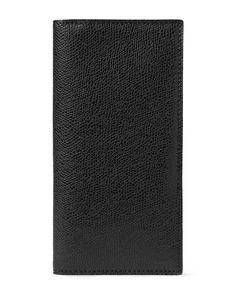 Valextra | Pebble-Grain Leather Travel Wallet