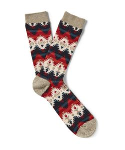 Anonymous Ism | Patterned Cotton-Blend Socks