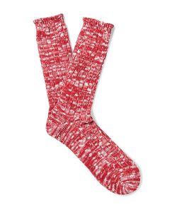 Anonymous Ism | Ribbed Slub Cotton-Blend Socks
