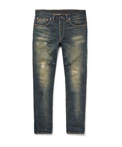 RRL | Slim-Fit Distressed Selvedge Denim Jeans