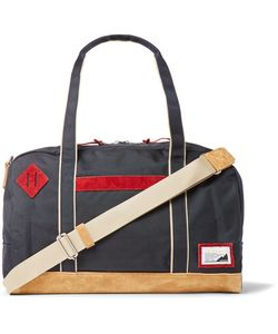 Master Piece | Suede-Trimmed Canvas Holdall