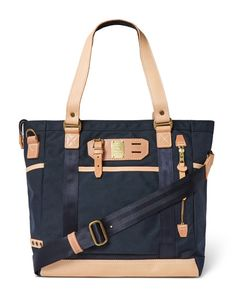 Master Piece | Leather-Trimmed Canvas Tote Bag