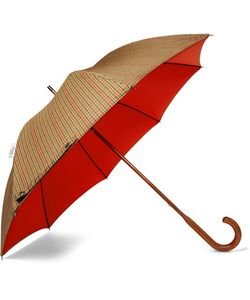 LONDON UNDERCOVER | Maple Wood-Handle Houndstooth Twill Umbrella
