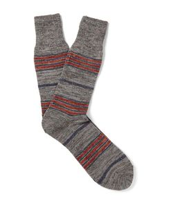 Anonymous Ism | Blanket Striped Mélange Knitted Socks