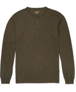 JEAN SHOP | Henry Slim-Fit Slub Cotton Henley T-Shirt