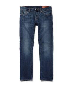 JEAN SHOP | Mick Slim-Fit Washed Selvedge Denim Jeans