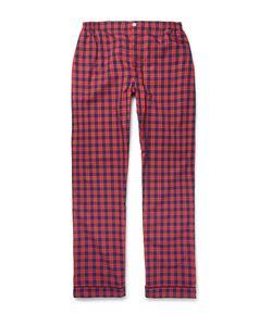 Sleepy Jones   Leepy Jone Marcel Checked Wahed-Cotton Pyjama Trouer