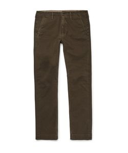 JEAN SHOP | Leon Slim-Fit Cotton-Twill Trousers