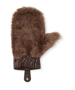 CEDES MILANO | Shearling And Leather Shoeshine Mitt