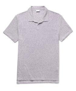 Onia | Shaun Slim-Fit Striped Slub Linen-Blend Polo Shirt