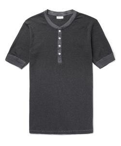 Schiesser | Karl Heinz Striped Cotton-Jersey Henley Pyjama T-Shirt Storm