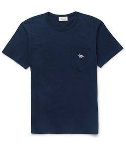 Maison Kitsune | Appliquéd Cotton-Jersey T-Shirt