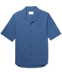 Albam   Panama Camp-Collar Cotton Shirt