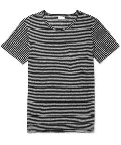 Schiesser | Helmut Striped Slub Linen-Jersey T-Shirt