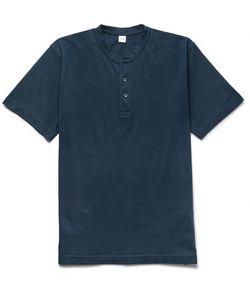 Aspesi | Slim-Fit Cotton-Jersey Henley T-Shirt