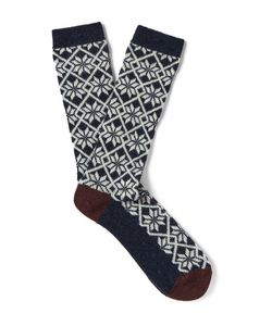 Anonymous Ism | Jacquard-Knit Socks