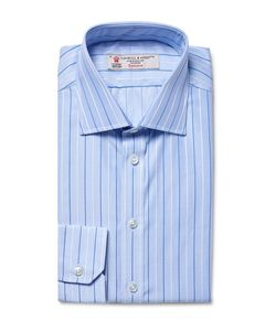 Turnbull & Asser | Slim-Fit Striped Puppytooth Cotton Shirt