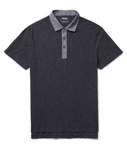 TODD SNYDER | Oxford-Trimmed Slub Cotton Polo Shirt