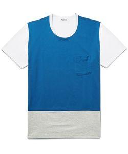 Aloye   Colour-Block Cotton-Jersey T-Shirt