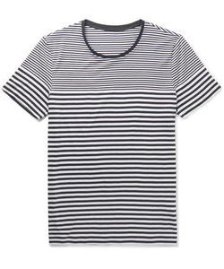 HUGO BOSS | Striped Cotton-Jersey T-Shirt