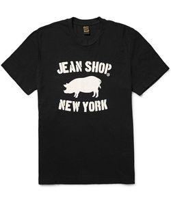 JEAN SHOP | Printed Slub Cotton-Jersey T-Shirt