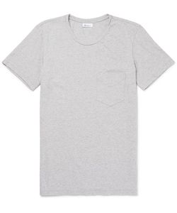 Schiesser | Fred Slim-Fit Striped Mélange Cotton-Jersey T-Shirt