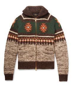 RRL | Shawl-Collar Wool Linen And Cotton-Blend Cardigan