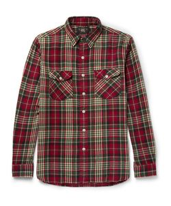 RRL | Rr Checked Brushed Cotton-Fanne Shirt