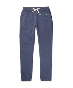 Todd Snyder + Champion | Todd Nyder Champion Lim-Fit Tapered Loopback Cotton-Blend Jerey Weatpant
