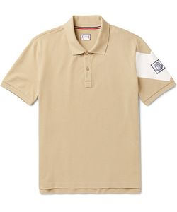 Moncler Gamme Bleu | Slim-Fit Printed Cotton-Piqué Polo Shirt