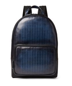 BERLUTI | Time-Off Vitello Pythagora Patterned Leather Backpack