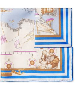 RUBINACCI | Mediterraneo Printed Silk-Twill Pocket Square