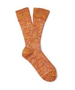 The Workers Club | Mélange Merino Wool-Blend Socks