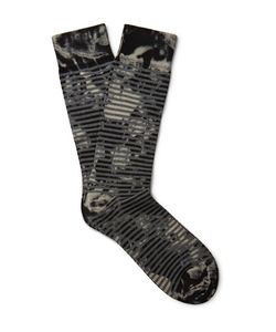 Marcoliani | Patterned Pima Cotton-Blend Socks