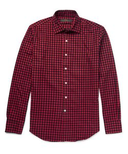 Freemans Sporting Club | Spread-Collar Checked Cotton-Flannel Shirt