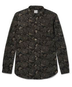 Orslow | Button-Down Collar Floral-Print Cotton And Linen-Blend Shirt