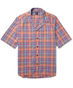 Albam | Panama Camp-Collar Checked Cotton Shirt